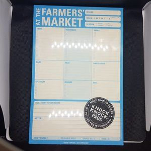Farmers Market Notepad and Shopping List